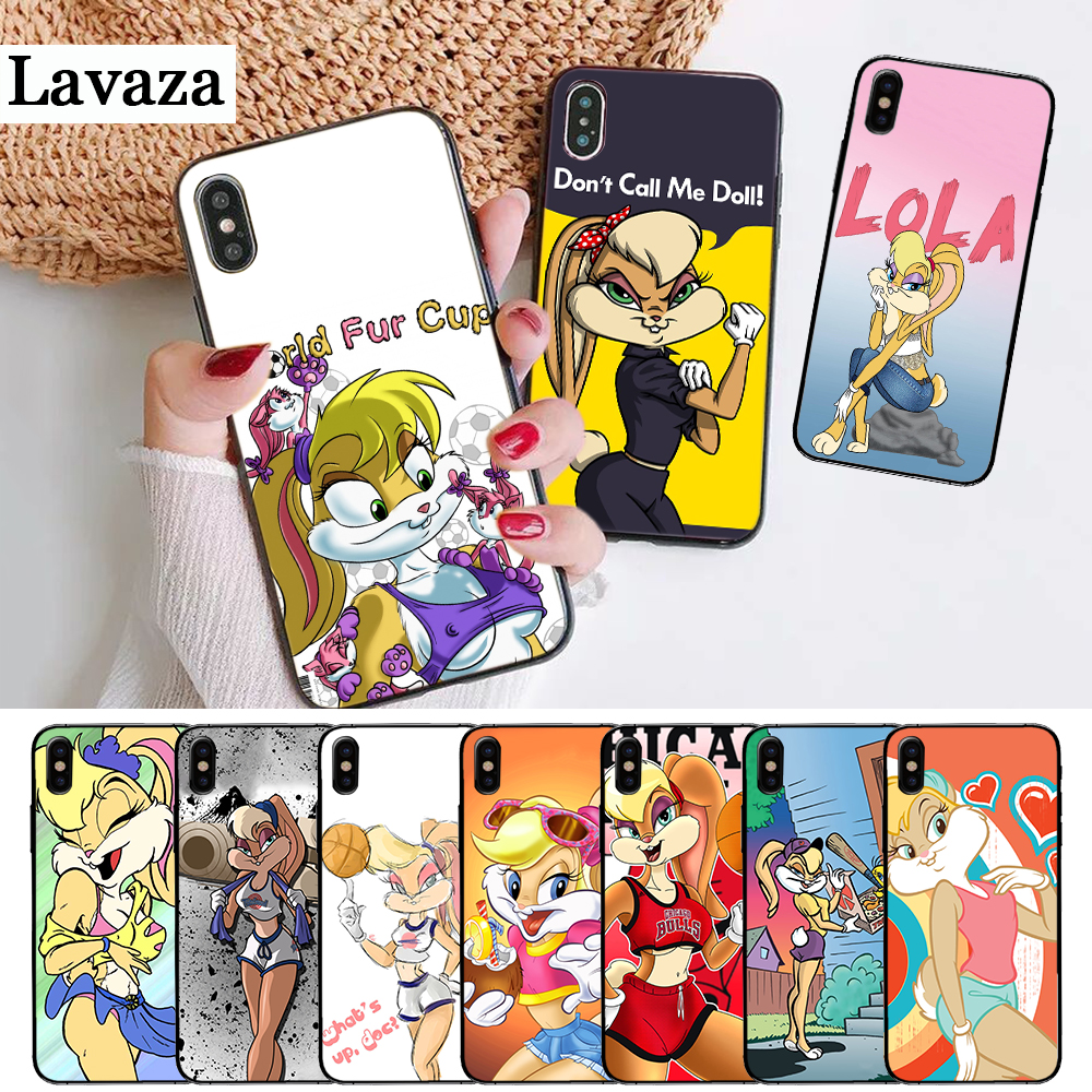 Lavaza lola bunny Silicone Case for iPhone 5 5S 6 6S Plus 7 8 X XS Max XR in Fitted Cases from Cellphones Telecommunications
