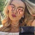Lvvkee дизайнер солнцезащитных очков ретро сплав frame 12 цветные линзы округлые женский Пляж стимпанк старинные очки 3447 рэй