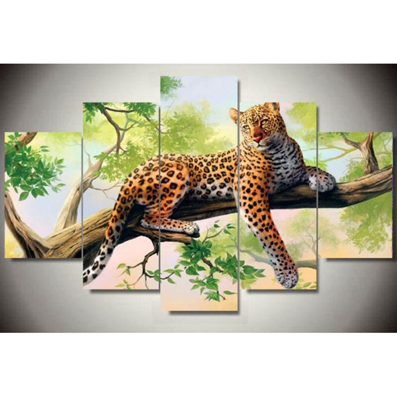5D bricolage diamant peinture 5 pièces/ensemble triptyque diamant peinture strass collage décoratif diamant broderie mosaïque couture