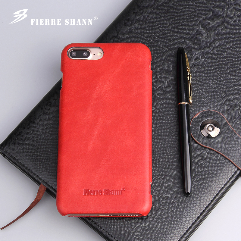A4 Fierre Shann Super Luxury Genuine Leather Case For iPhone X XR XS Max 6 6S 7 7plus 8 8plus Flip Phone Cases Cover Capin Shell