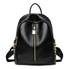 2017 New Designer PU Leather Women Backpacks Rivet School Bag Student Backpack Female Travel Bags Ladies Package Rugzak