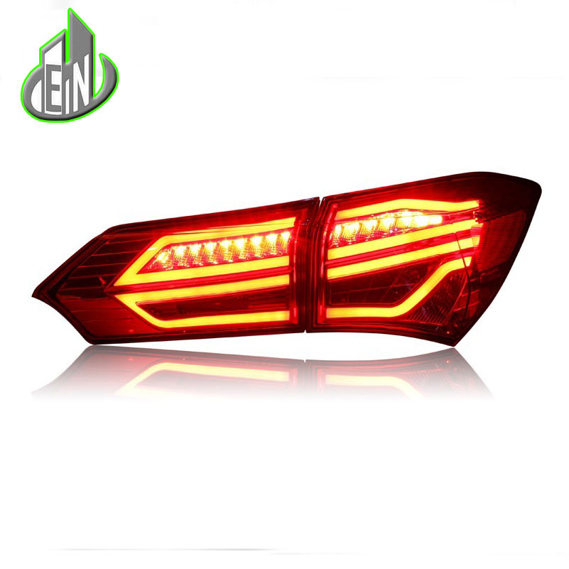 Car Styling Tail Lamp For Toyota Corolla Tail Lights 2013-2016 Altis LED Tail Light GLK Design Rear Lamp DRL+Brake+Park+Signal car styling car body trims for toyota corolla 2013 2014 2015 2016 2017 2018 e170
