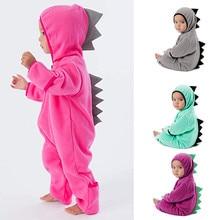 Toddler Baby Rompers Girls Boys Dinosaur Hoodie Romper