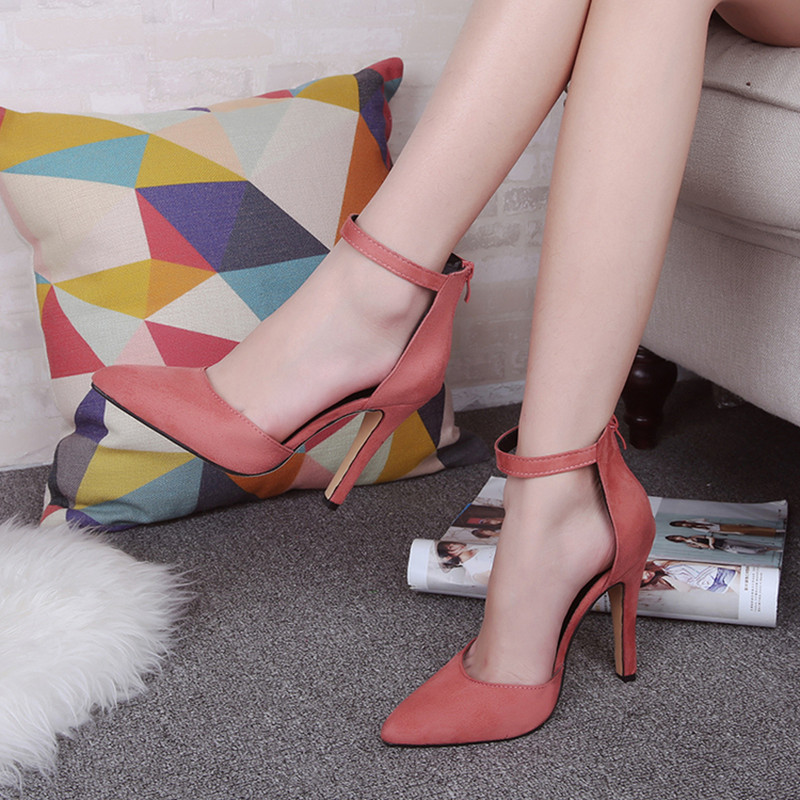 Shoes Woman 2017 High Heels Female Fine With Sexy Buckle Women Shoes 34-39  zapatos mujer chaussure femme talon schuhe damen idg brand women slip on high heels short rough with the fall and winter metal buckle rivets shoes woman zapatos mujer tacon