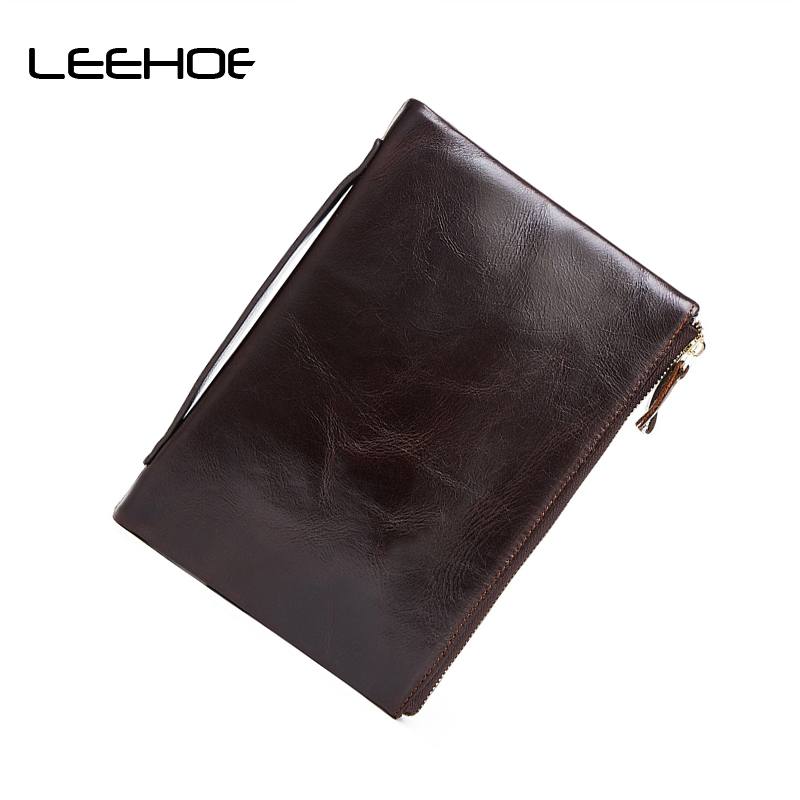 Double Zipper Men Day Clutch Bag Men's Purses Genuine Leather Men Wallets Leather Man High Capacity Wallet Long Male Purse 4 3 lcd color screen doorbell viewer digital door peephole viewer camera door eye video doorbell 145 degrees security camera