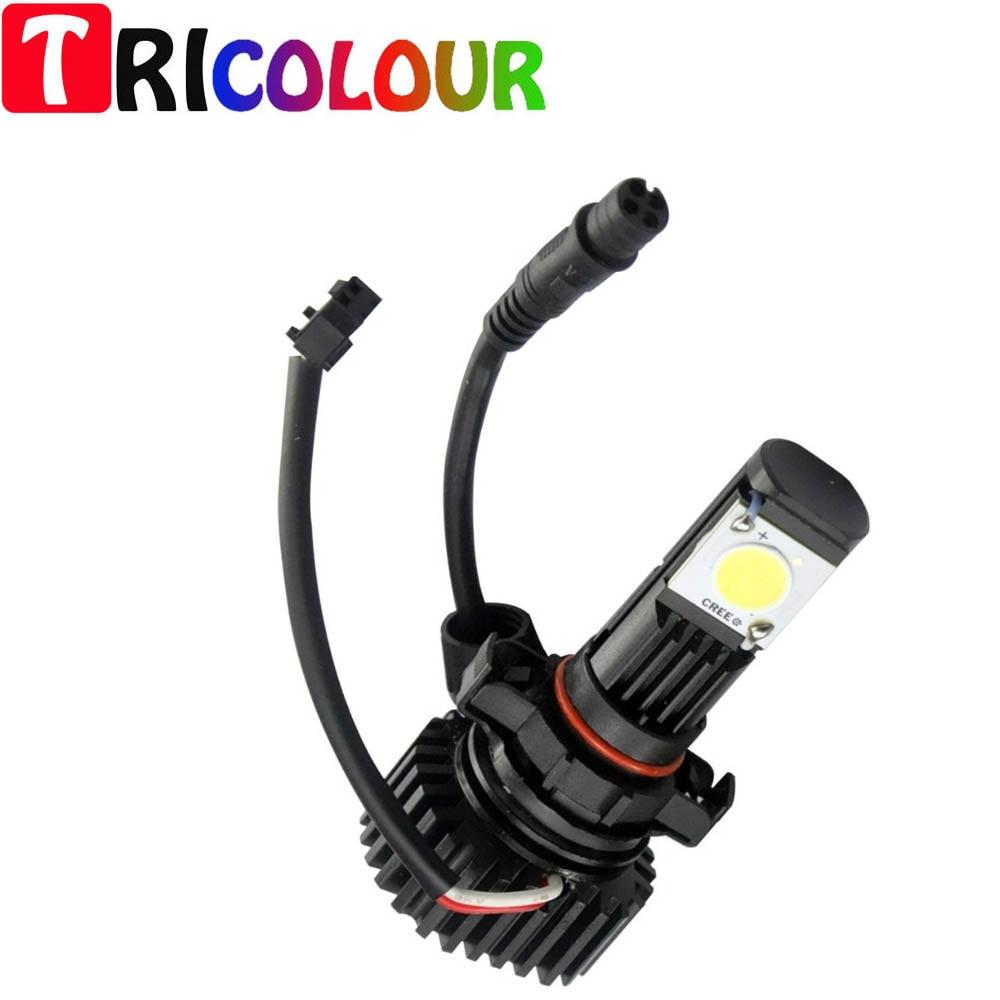 TRICOLOUR 10pair 25W 12V 24V LED H11 H11B Headlight Bulb Low Beam for GMC Sierra 1500 2500 2500 HD (2.2) 2007-2014 #TM39 цена 2017