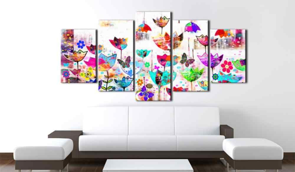 5 قطعة/مجموعة فراشة المشارك سلسلة الصورة طباعة اللوحة على قماش جدار ديكور فني للمنزل غرفة المعيشة قماش الفن PJMT-B (164)