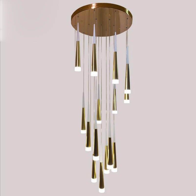 Hotel lobby living room bar villa modern minimalist Nordic lighting restaurant meteor shower LED chandelier led lighting fixture