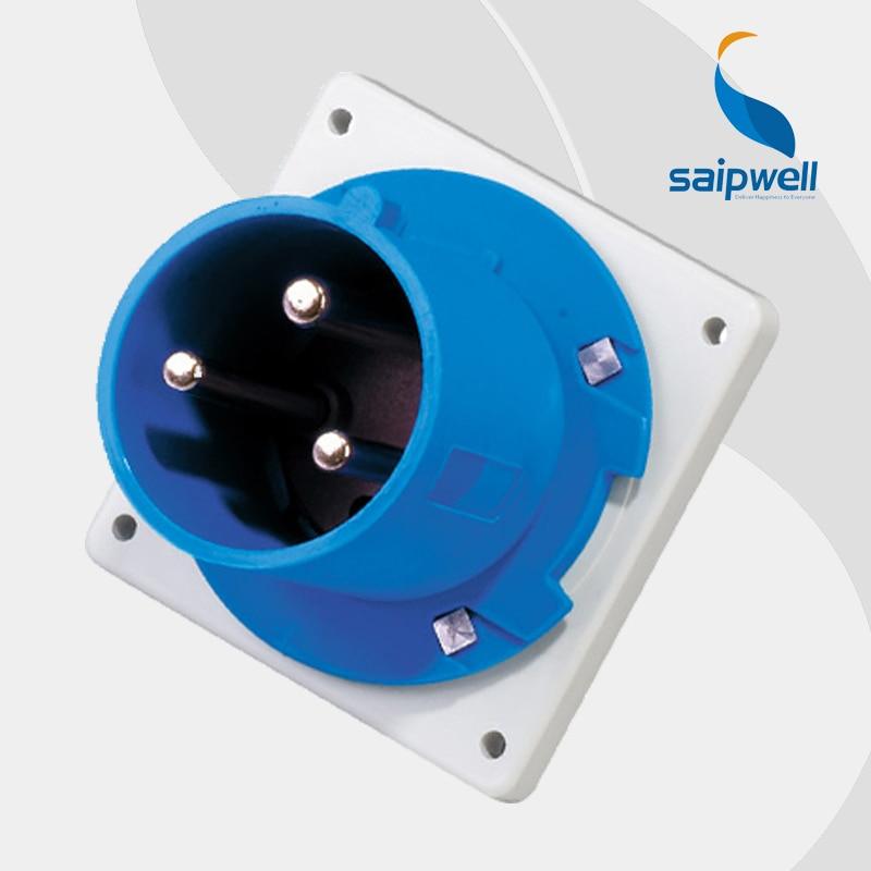 63A 230V 3P (2P+E) european industrial electrical socket plug wall mounted Splash Proof IP44 EN / IEC 60309-2 type SP1981 water proof ip67 32a 3p e iec309 2 industrial socket ac 220 380v 240 415v
