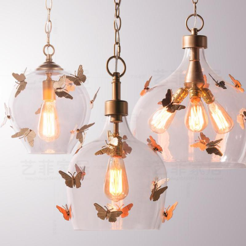 butterfly lights for bedroom retro simple creative butterfly corridor glass pendant 14677