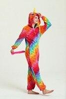 New Onesie Kigurumi Flannel Zipper Star Color Fish Scales Unicorns Unisex Adult Pajamas Cosplay Costume Animal