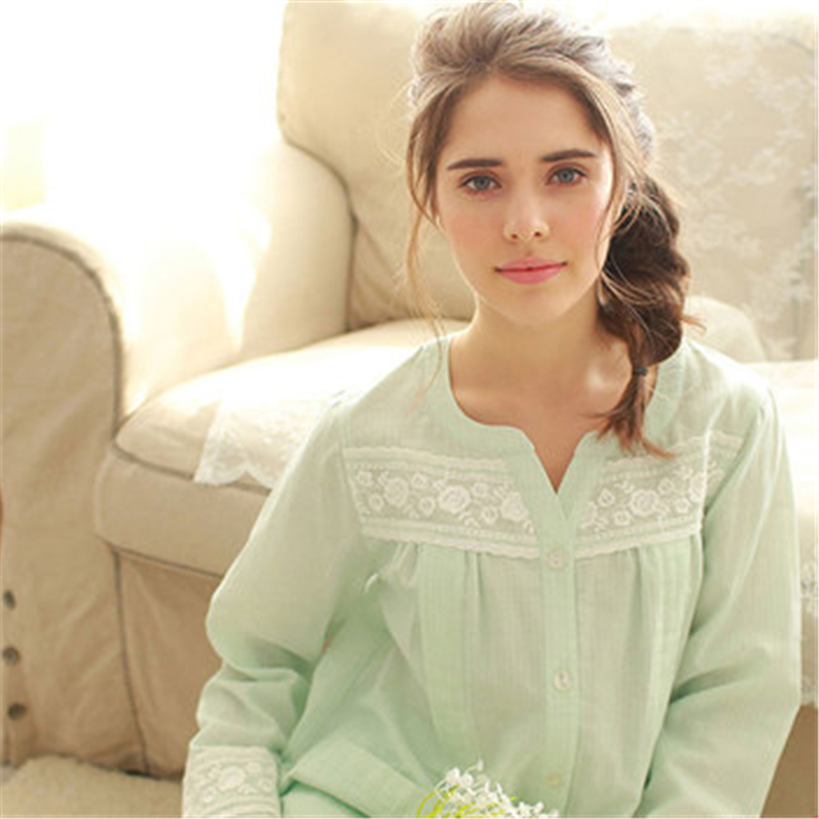 ФОТО Lace Summer Maternity Pajamas Set Nursing Clothes For Pregnant Women Luxury Cotton Embroidery Maternity Pijama Set 70M0118