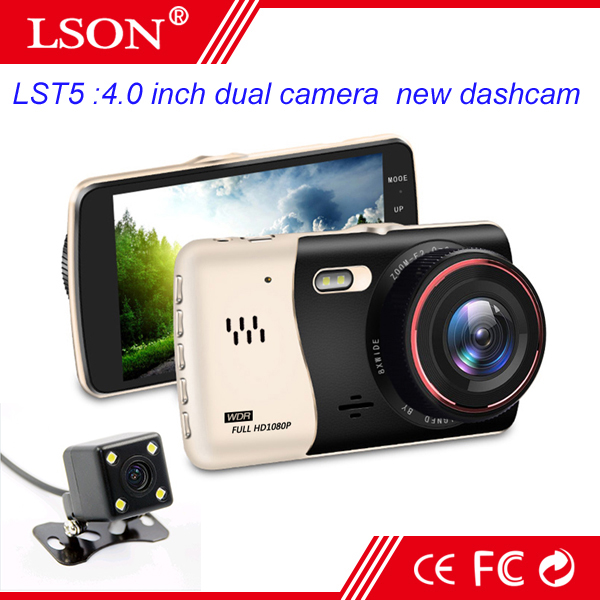 Original Mstar Car DVR 1080P Full HD Dashcam 4.0 inch IPS Screen Camera Dashcam dual camera Free Shipping