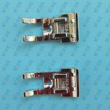 2PCS Metal Quilting Piecing Foot 1/4 HUSQVARNA VIKING SNAP ON #4123708-45
