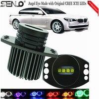 2PCS LED E90 Angel Eyes 40W White 6000K Halo Ring Marker Light Bulb For BM W E60 E61 E63 E64 E70 X5 E71 X6 E82 E87 E89 Z4 E91 M3