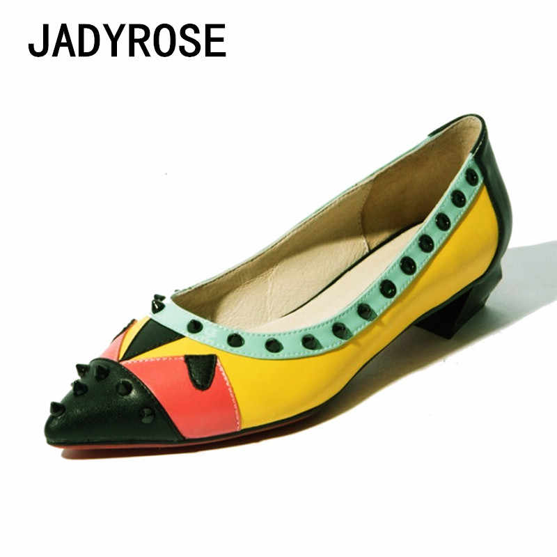 61857b520d Women Sexy Pointed Toe Pump Shoes Colorful Mixed Formal Dress Stilettos  Spike Monster Women Fashion Shoes