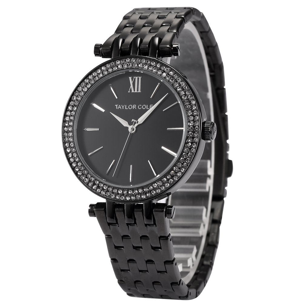 Diamond Ring Calendar Watch Steel Belt Quartz Watch Simple Watch Waterproof Casual Wrist Watch For Men And Women Men Watches