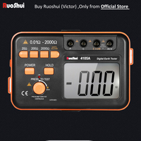 4105A Victor RuoShui Digital Earth Resistance Tester Earth Meter Ground Resistance Meter