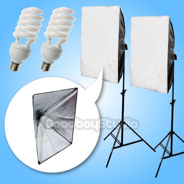 400W (2X 45w CFL bulb) 50x70cm Folding Easy Softbox Continuous Lighting Kit 220V|lighting kit|continuous lighting kit|softbox continuous lighting - title=