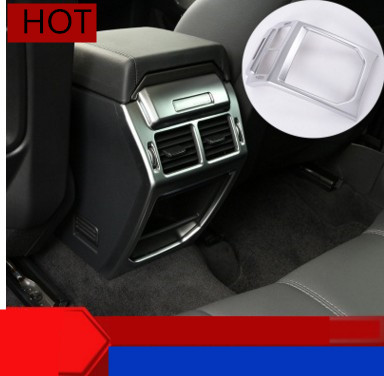 For Land Rover Range Rover Evoque 2014-2016 Car Interior Accessories Rear Air Outlet Vent Protection Frame Cover Trim Sticker center armrest rear back row passenger air vent decorative cover sticker trim for range rover evoque interior accessories