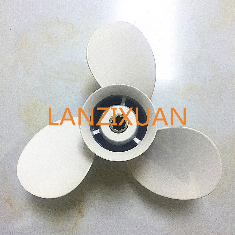 Boat Engine Aluminum Propeller 9 1/4x11-J for Yamaha 9.9HP 15HP Outboard Motor 9 1/4 x 11 - J , Fit Hidea Parsun 15hp Outboard new outboard propeller 58100 88l31 019 size 11 5 8 x 12 12p df40a 50a 6 for suzuki marine outboard engine motor