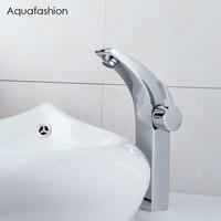 Home Decoration Moon shape Bathroom Faucet Chrome Bathroom Sink Faucet Brass Vessel Sink Tap
