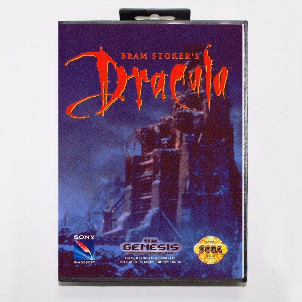 Bram Stokers Dracula Game Cartridge 16 bit MD Game Card With Retail Box For Sega Mega Drive For Genesis