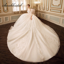 sarahbridal Wedding Dresses with Royal Train Bridal Gown