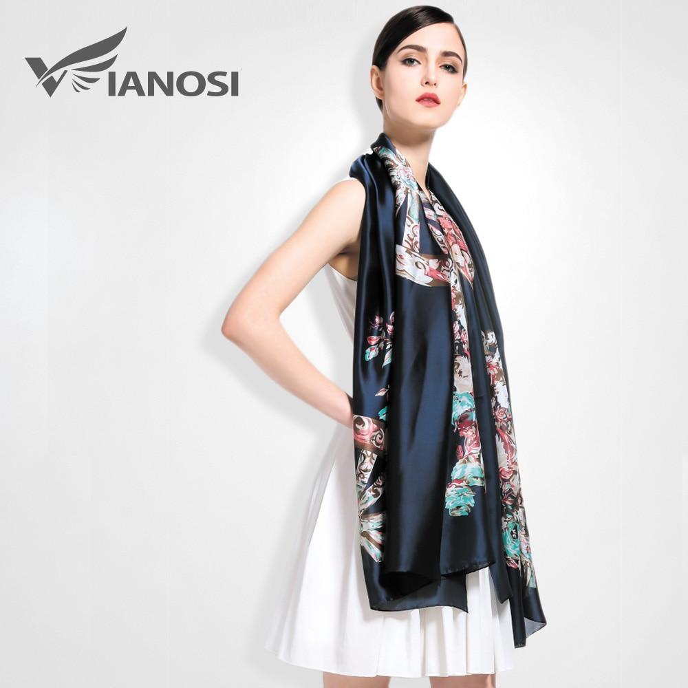 [VIANOSI] 2019 High Quality Digital Printing Women   Scarf   Brand Shawls and   Scarves   Silk   Scarf   Foulard Femme Luxury Brand   Wrap