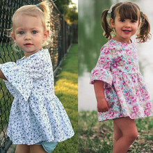 Toddler Baby girls dresses summer 2019 Floral Print Ruffles