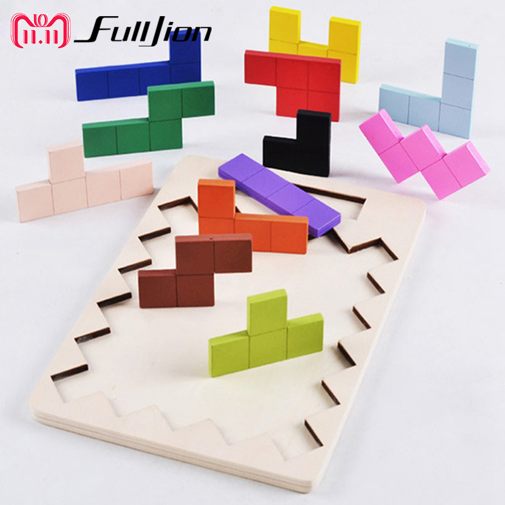 цена на Fulljion Puzzle Game Wooden Toys Math Learning Education Montessori Toys For Children 3D Jigsaw Teaser Kid Maze Cubes Busy Board