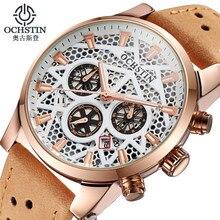 Reloj hombre 2016 ochstin nuevo cronógrafo reloj de los hombres de la marca de lujo famoso reloj de pulsera para hombre de acero reloj de cuarzo masculino-ver reloje