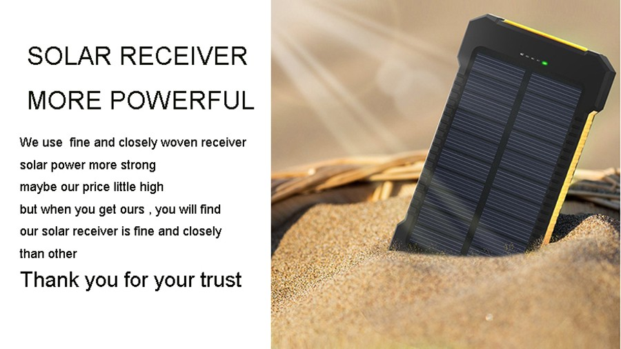 Waterproof Solar 30000mAh Solar Power Bank Charger 2 USB Ports External Charger Powerbank for Xiaomi with LED Light 2
