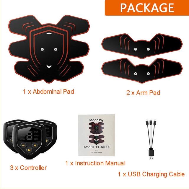 Συσκευή εκγύμνασης σώματος με Δόνηση – Ηλεκτροδιέγερση ems (Επαναφορτιζόμενο με usb – lcd Οθόνη)