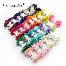 Lucia crafts 576pcs 1mm Multi colors Flower Stamen Floral Cake Decoration Double heads DIY Handmade Materials