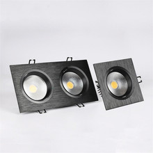 Dimmable Single/Double COB 10W/2*10W LED Downlight Spot Recessed Ceiling Light White shell / Black