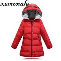 Xemonale Spring Winter Jacket Girls Clothes Cotton Padded Hooded Kids Coat Children Clothing Girl Parkas Enfant