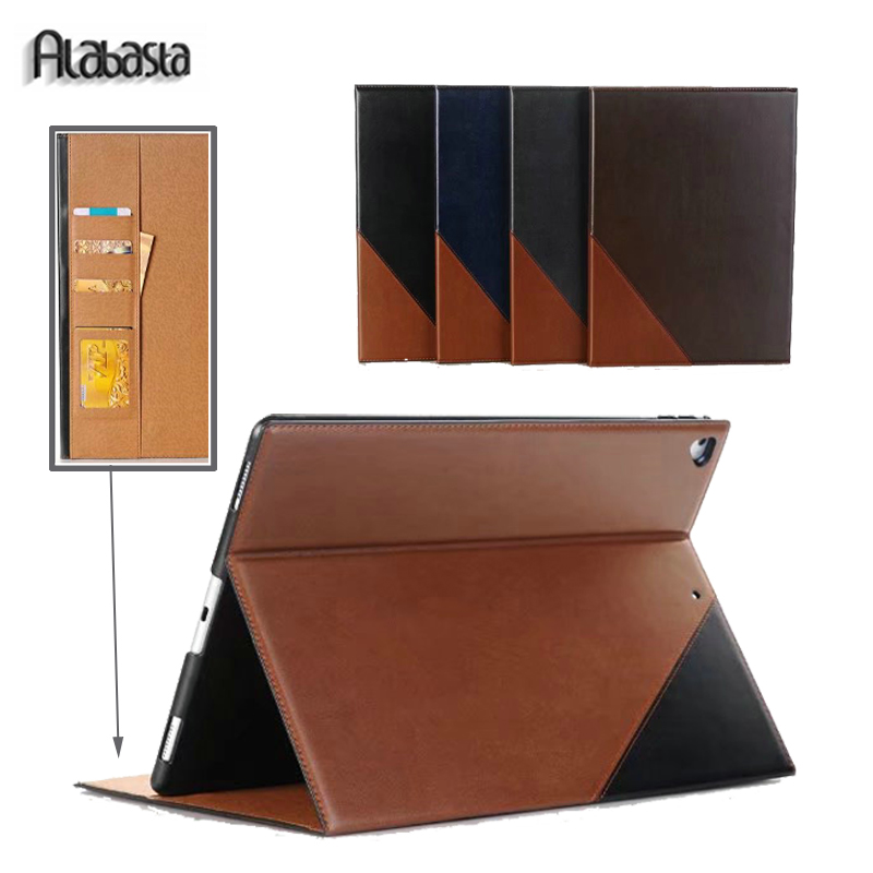 Alabasta Case for iPad Pro 12.9 Business Folio Stand Pocket PU Leather Auto Wake Smart Cover for iPad Pro 12.9 inches Stylus pen case for funda ipad pro 12 9 luxury business leather case tablet 12 9 inch wake up hand belt holder stand flip bags alabasta