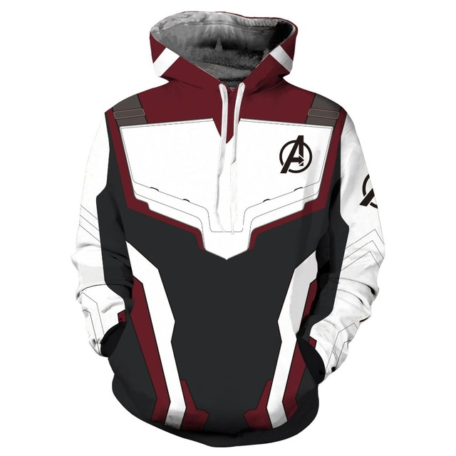 Avengers 4 Boys Jacket Cotton Quantum warfare Cosplay Hooded Drawstring Loose Boys Sweater Spring Hooded Coat 2-13Y Kid Clothes