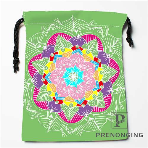Custom Flower Type Drawstring Bags Printing Fashion Travel Storage Mini Pouch Swim Hiking Toy Bag Size 18x22cm 171203-04-09
