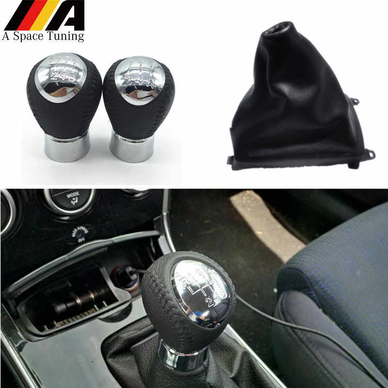 Manopla de câmbio da marcha da velocidade 5/6, acessórios automotivos, alavanca de mudança, tampa do bota, gola para mazda 6 m6 2002-2007