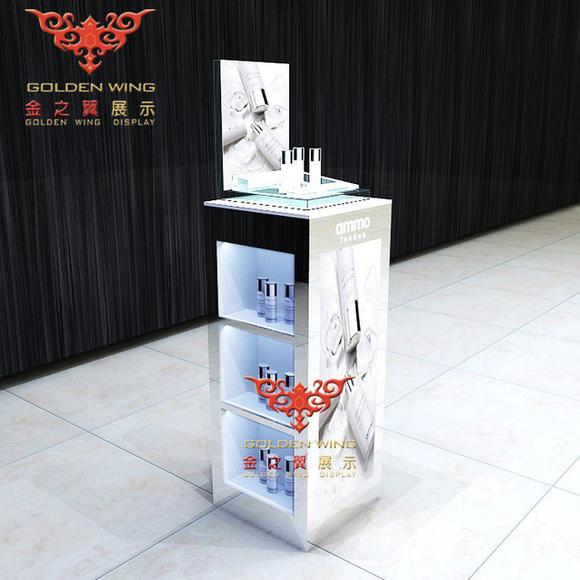 Retail Or Custom Wooden Display CabinetsCosmetic Display Stands Beauteous Cosmetic Retail Display Stands