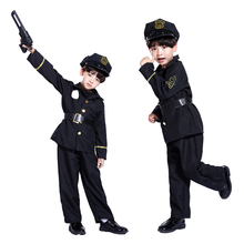 Halloween costume role-playing boys small police dance party costumes Demolition Man costume Theatrical Costume