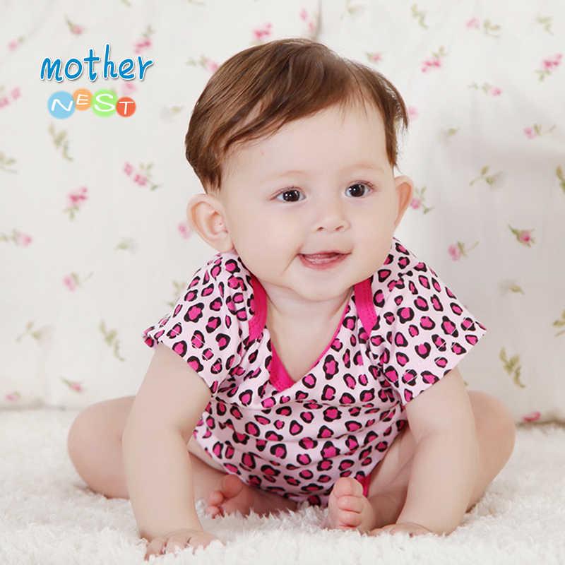 2018 letnie dziecko Romper ubrania Leopard czerwony kolor dziecko ubrania dla niemowląt noworodka kombinezon niemowląt chłopiec dziewczyny kostium