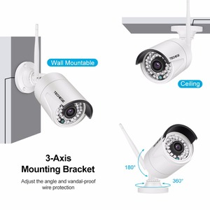 Image 2 - Techege 4CH Surveillance 1080P NVR 1080P WIFI IP Camera 2.0MP Audio wireless kit WiFi Camera CCTV System P2P CCTV camera system