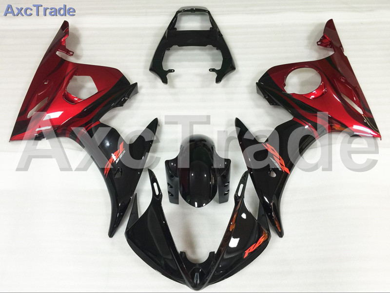 Motorcycle Fairings Kits For Yamaha YZF1000 YZF 1000 R1 YZF-R1 2002 2003 02 03 ABS Injection Fairing Bodywork Kit Red Black A805