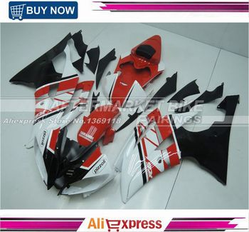 For Yamaha YZF R6 2008-2014 50th Anniversary Design Red & White & Black ABS Plastic Motorbike Fairing Kit