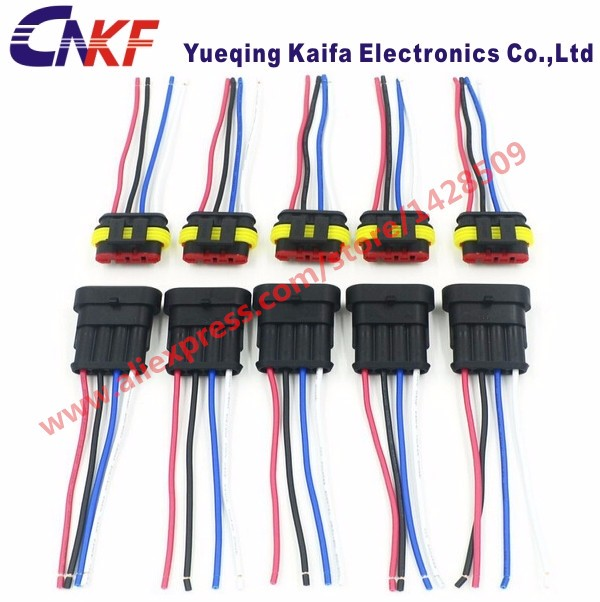 popular wire harness connector pin male female buy cheap wire 5 sets 1 5 series 4 pin waterproof electrical wire connector male female automobile wire harness