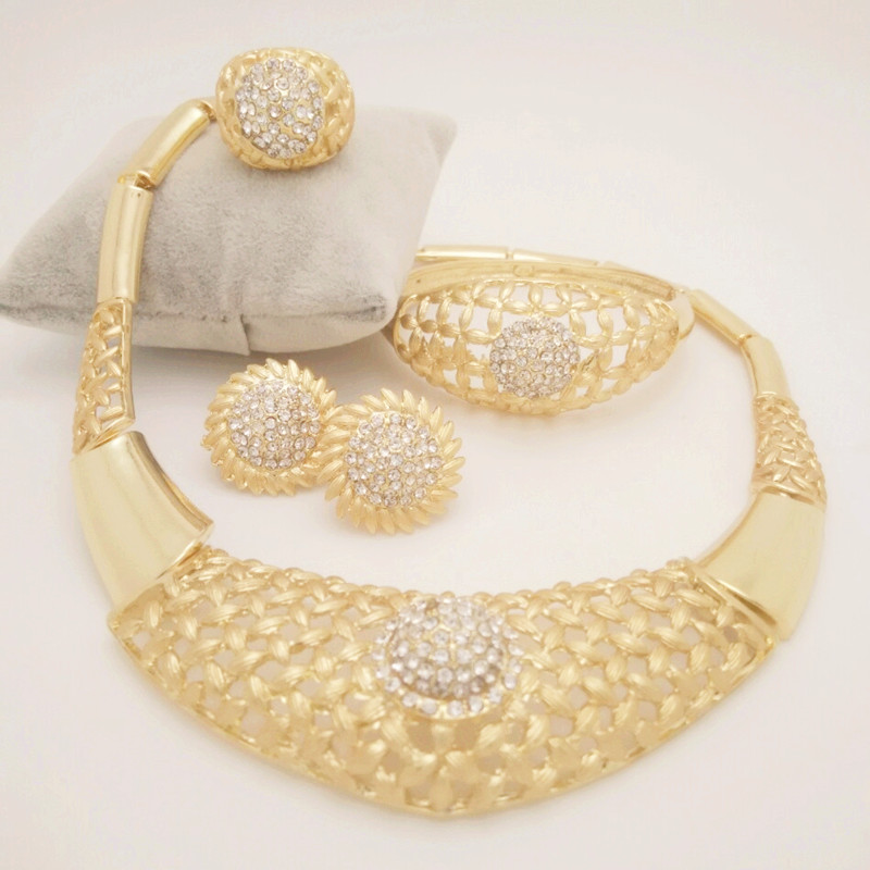 Kingdom Ma New Nobler Dubai Design Fashion Costume Crystal Necklace