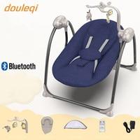 Baby electric rocking chair baby cradle recliner artifact sleepy newborn comfort shake chair with bluetooth funcation